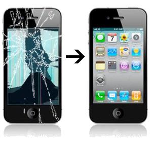 Réparation écran LCD cassé iPhone 4S à Paris et Boulogne