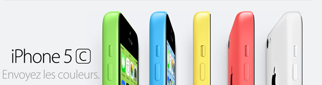iPhone 5c en 5 couleurs Apple