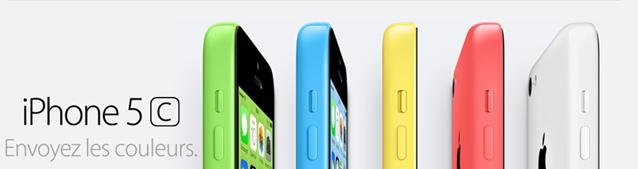 iPhone 5c en 5 couleurs Apple